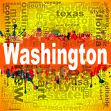 Washington word cloud design Stock Image