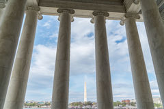Washinton Monument seen from the Jefferson Memorial Royalty Free Stock Photo