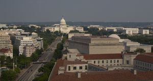 Washinton view. A view of Washington DC from the radio tower Royalty Free Stock Photo