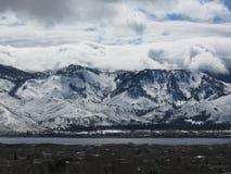 从Washoe谷采取的登上罗斯观点, NV 免版税库存照片