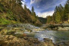 Washougal River. Dougan Falls Recreational Area on Washougal River Stock Photo