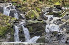 Washougal River Waterfall. Natural Waterfall at Washougal River Road Washington Royalty Free Stock Image