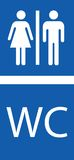 washroom σημαδιών Στοκ εικόνες με δικαίωμα ελεύθερης χρήσης