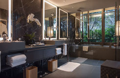 Washroom. A expensive presidential suite in a hotel in singapore Stock Photos