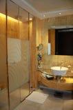 Washroom of Hotel Room Stock Photography