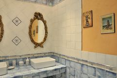 Washroom interior and decoration Royalty Free Stock Images