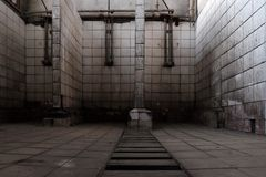 Washroom. Old bathroom at the abandoned mine Royalty Free Stock Images