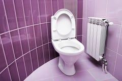Washroom in purple color. Royalty Free Stock Photos