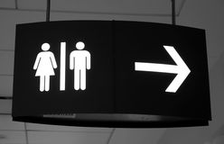 Washroom Sign Stock Photo