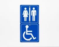 Washroom Sign Royalty Free Stock Image