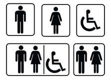 washroom sign - restroom symbol royalty free illustration