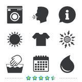Washsymbol Inte tvättbart symbol för maskin royaltyfri illustrationer