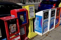 Wasihngton, C.C : Boîtes de vente de journal images stock