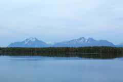 Wasilla's Mountains Royalty Free Stock Image