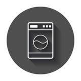 Wasmachine vlak vectorpictogram vector illustratie