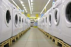 Wasmachines in winkel 2 royalty-vrije stock afbeeldingen