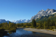 Wasootch Crique-Kananaskis Photographie stock libre de droits