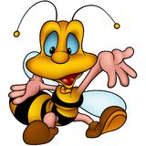 Wasp 19 smiling royalty free illustration