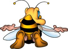 Wasp from the back. Little Bee 20 - High detailed and coloured illustration - Wasp from the back vector illustration