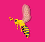 Wasp. Cartoon Wasp Insect Vector Illustration Royalty Free Stock Photos