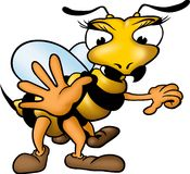 Wasp greeting Stock Images