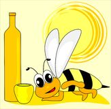 Wasp and mead Stock Photography