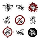 Wasp set. Vector Royalty Free Stock Images