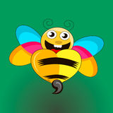 Wasp sting. Vector image of  wasp sting Royalty Free Stock Photography