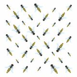 Wasps - pattern. Stock Images