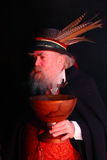 Wassail night celebration. Wassail night occurs in January in England and is an age old tradition when the apple tree is blessed to give a good harvest Stock Images