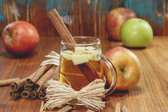 Wassail Punch. Winter drink with apples and  spices Stock Photos