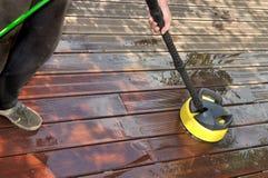 Wassend houten terras Stock Foto
