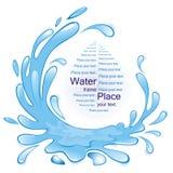 Wasser. lizenzfreie abbildung