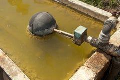 Wasser-Abflussrinne Stockbild