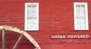 Wasser angeschaltene Apfelpresse Lizenzfreies Stockbild