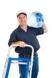 Wasser-Anlieferung - freundlich Stockbild