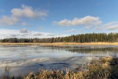 Wasser auf Eis Lizenzfreie Stockbilder