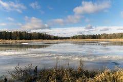 Wasser auf Eis Lizenzfreie Stockfotos