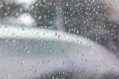 Wasser auf Fenster Stockbild