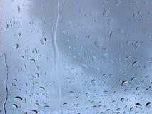 Wasser auf Glas Stockbild