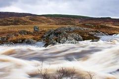 Wasser auf Rannoch verankert Stockbilder