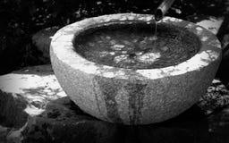Wasser-Becken-Monochrom Lizenzfreies Stockfoto