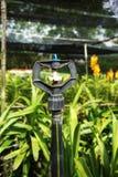 Wasser-Berieselungsanlage im Garten Lizenzfreie Stockfotos