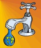 Wasser: beschränktes Mittel stock abbildung