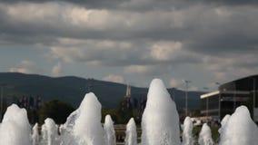 Wasser-Brunnen stock video