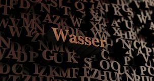 Wasser - 3D en bois a rendu des lettres/message Photographie stock libre de droits