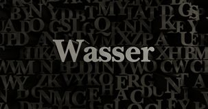 Wasser - 3D rendered metallic typeset headline illustration Royalty Free Stock Photo