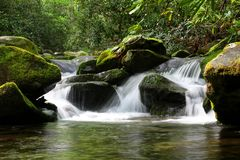 Wasser der Brüllengabel-Bewegungsspur lizenzfreie stockbilder
