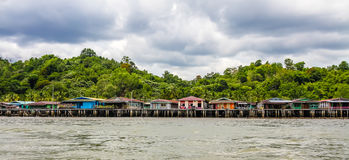 Wasser-Dorf-Bandar Seri Begawan, Brunei Stockfotografie
