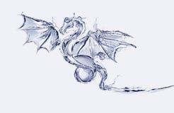 Wasser-Drache Stockbild